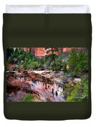 Ledge At Emerald Pools In Zion National Park Duvet Cover