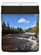 Ledge Falls Maine Duvet Cover