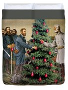 Lee And Grant At Appomattox Duvet Cover