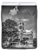 Lee County Courthouse In Giddings Texas Duvet Cover