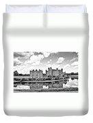 Leeds Castle Black And White Duvet Cover