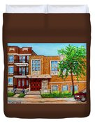 Legare And Hutchison Synagogue Montreal Duvet Cover