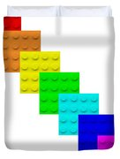 Lego Box White Duvet Cover