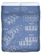 Lego Toy Building Brick Patent - Light Blue Duvet Cover