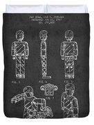 Lego Toy Figure Patent - Dark Duvet Cover