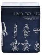 Lego Toy Figure Patent Drawing Duvet Cover