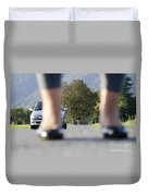Legs And Car Duvet Cover