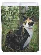 Leia Cat In Blueberries Duvet Cover