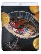 Lemon Drop Duvet Cover by Debbie DeWitt