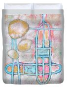 Lemon Rocks Paperclips And Water Trails Duvet Cover