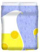 Lemonade And Glass Blue Duvet Cover