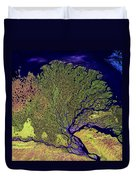Lena River Delta Duvet Cover by Adam Romanowicz