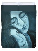 Lennon And Ono Duvet Cover