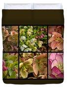 Lenten Rose Collage Duvet Cover