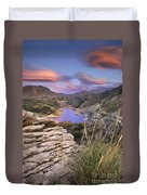 Lenticular Clouds At Canales Lake Duvet Cover