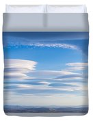 Lenticular Clouds Forming In The Troposphere Duvet Cover