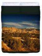 Lenticular Clouds Near Tesuque Pueblo Nm Duvet Cover