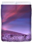 Lenticular Clouds Over Sierra Nevada Duvet Cover