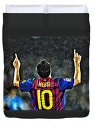 Leo Messi Poster Art Duvet Cover