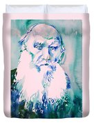 Leo Tolstoy Watercolor Portrait.2 Duvet Cover