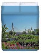 Leonard P Zakim Bridge From Cambridge Duvet Cover