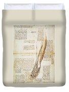 Leonardo: Anatomy, 1510 Duvet Cover