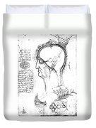 Leonardo: Brain, C1490 Duvet Cover