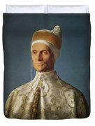 Leonardo Loredan 1436-1521 Doge Of Venice From 1501-21, C.1501 Oil On Panel Duvet Cover