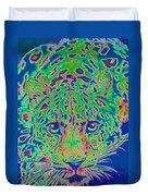 Leopard Eyes Green Duvet Cover