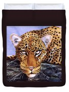 Leopard In A Tree Duvet Cover