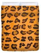 Leopard Print Hand Painted Leopard Print  Duvet Cover