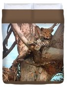 Leopard Up A Tree Duvet Cover