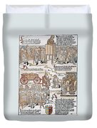 Lepers, 1493 Duvet Cover
