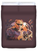 Leroi Moore Purple And Orange Duvet Cover