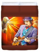 Les Claypool's-sonic Boom Duvet Cover by Joshua Morton