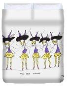 Les Girls Duvet Cover