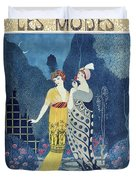 Les Modes Duvet Cover by Georges Barbier