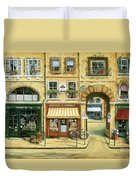 Les Rues De Paris Duvet Cover