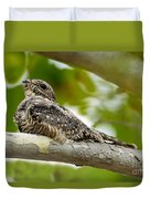Lesser Nighthawk On Branch Duvet Cover