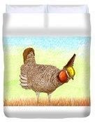 Lesser Prairie Chicken Duvet Cover