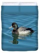 Lesser Scaup Male Swimming Duvet Cover