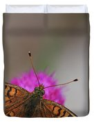 Lesser Spotted Fritillary Duvet Cover by Amos Dor