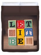 Let It Be Duvet Cover