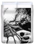 Let Sleeping Cats Lie Duvet Cover