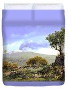 l'Etna  Duvet Cover