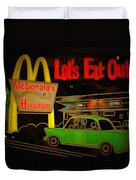 Let's Eat Out Duvet Cover
