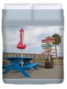 Let's Have A Picnic Jekyll Island Duvet Cover