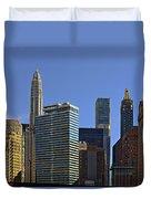 Let's Talk Chicago Duvet Cover by Christine Till