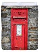 Victorian Red Letter Box Duvet Cover