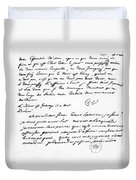Letter To Voltaire From King Frederick Duvet Cover